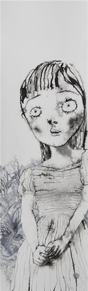 《花丛前的女孩》